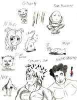 Sketches two The Real and Comic Life by amayo006