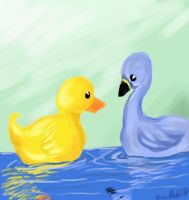 PE-Duck and Goose by kimikana