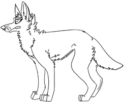 Canine Lineart - Free to Use by Luminols