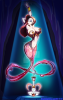 Disney - Genie Jessica rabbit by hachimitsu-ink