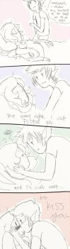 30 Day Challenge 5: kissing by Itaweasel-hime