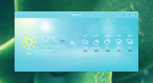 GNOME Weather alternative concept by 0rAX0