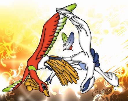 Lugia and Ho - Oh by MidNightxD