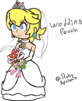 Mario Odyssey Wedding Peach by RobyApolonio