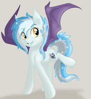 Silly batpony by BlueGriffyon