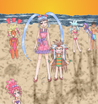 Tenchi's Gang at the Beach by Celestial-Selene