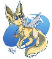 Flying Fairy Fox by LupusSilvae