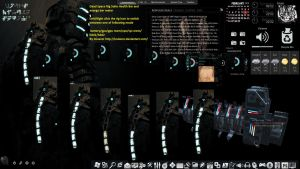 rainmeter dead space rig skin all purpose skin new by louiezzz