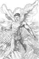 Superman above the Fortress by PatC-14