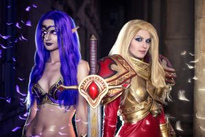 Kayle and Morgana - League of Legends by Kinpatsu-Cosplay