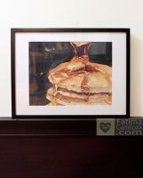 Pancakes Watercolor by taho