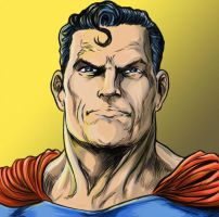 Superman color test w yellow by ElvinHernandez