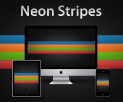 Neon Stripes by RobotBoyMedia