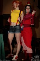 Con-nichiwa Anime Convention - Misty and Azula by TaoPhotography