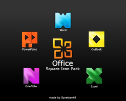 Square Office iconpack by spretten48