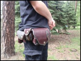 Archery belt pouches by LeatherCraft