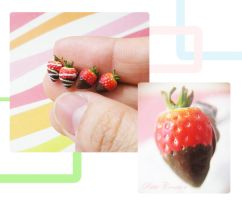 strawberry earrings 4 by PetiteCreation