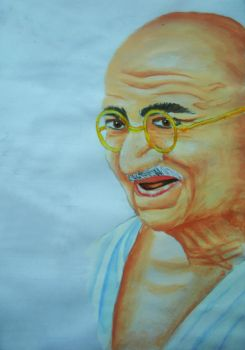 Mahatma Gandhi by art-devi