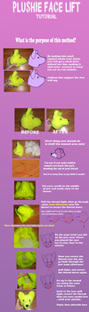 Plushie face lift tutorial by Skeleion