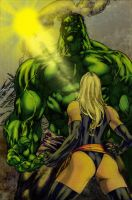 hulk and Ms. Marvel finish by richy28
