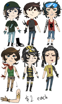 Post Apocalyptic Adoptables Set - OPEN by MattxMourning