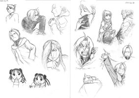 FMA chapter 71-72 sketches by Amarevia