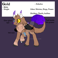 Gold Reference Sheet - FOR SALE [OPEN] by MishkaWolf