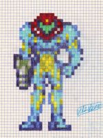 Fusion Suit Samus GP sprite by dragontamer272