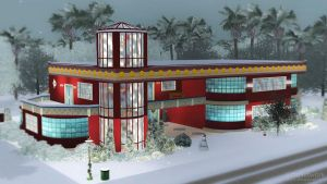 Christmas Art Deco House by snwgames