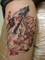 samurai and geisha tattoo by daredevil840
