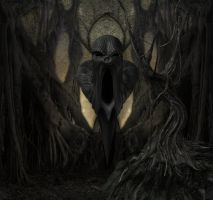 Creepy Dark Forest Bckground by mysticmorning