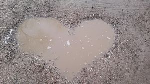 Heart-Shaped Puddle by Petrichor-X80
