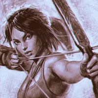 Tomb Raider sketch by Kuvshinov-Ilya