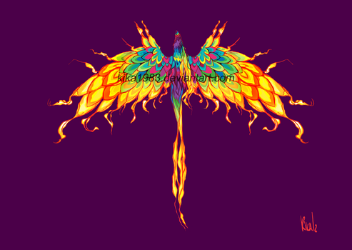 Rainbow Phoenix by kika1983