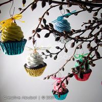 Mini Cupcake Ornaments 02 by CreativeAbubot