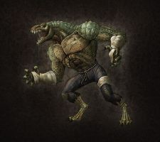 Killer Croc by Zercon