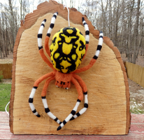Marbled Orb Weaver Felted Wall Decor by DancingVulture