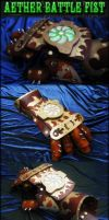 Steampunk Aether Battle Fist by AetherAnvil