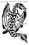 Monster Hunter Rathalos Tribal Design by WildSpiritWolf