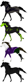Horse adopts set 10 OPEN by Adopt-A-Shaddix