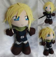 Art Trade, Plushie Cloud Strife by ThePlushieLady