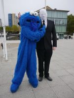 Cookie Monster and...Slender?! MCM Oct '12 by KaniKaniza