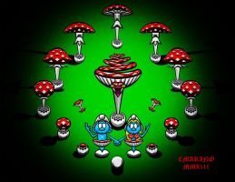 ADAM N EVE SMURF OR THE GARDEN OF SMURF by CORY-MARINO