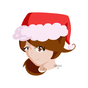 OC Headshot - Happy Holidays 2016! by SilverDewdrop146