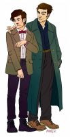 The 11th Doctor and Jack by digitalruki