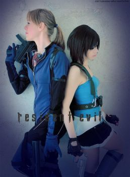 Resident Evil Jill Valentine Duo cosplay by ClajreFay