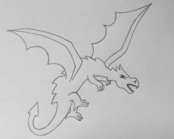 Dragon Sketch by kay-ler