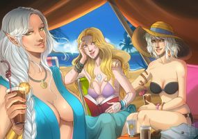 Comm: A day at the Beach by SicilianValkyrie