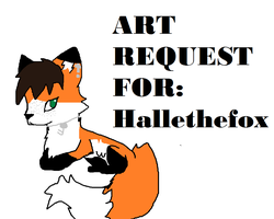 Art request for Hallethefox by tinypanda2208