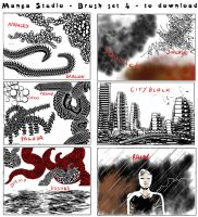 Free Manga Studio Custom Brushes - set 4 by 888toto